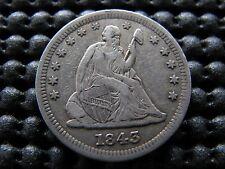 """1843-o Large """"O"""" Seated Quarter"""
