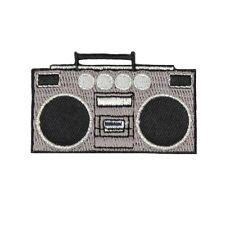 Retro Ghetto Blaster Boombox Patch Radio Cassette Tape Player Iron-On Applique