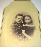 Antique Victorian American Civil War Fashion Siblings Tax Stamp CDV Photo! Salem