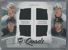 2010-11 UPPER DECK THE CUP GETZLAF/FOWLER/PERRY/PALMIERI QUAD JERSEY 10/10!!