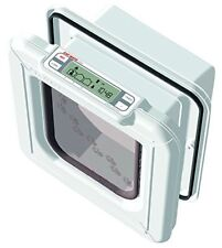 Cat Mate Elite Microchip Cat Flap with Timer Control 4-Way Lock - White UK POST