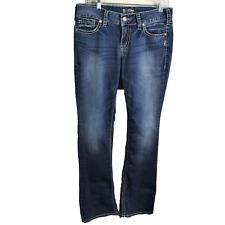 Silver Jeans Suki Women 30X33 Slim Mid Boot Super Stretch Thick Stitch Distress