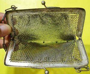 borsa borsetta a rete antica argento 800 punzone VM primi 900 vintage bag bags f