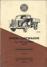 STEYR PUCH  DIESEL LASTWAGEN TYP 380 + 380 f Betriebsanleitung 1959 Handbuch BA
