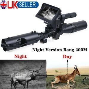 200M Night Vision Infrared Rifle Scope Hunting Sight 850nm LED IR Camera UK