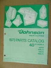 1973 JOHNSON 40 HP 40R73 40RL73 40E73 40EL73 OUTBOARD MOTOR PARTS CATALOG 386135
