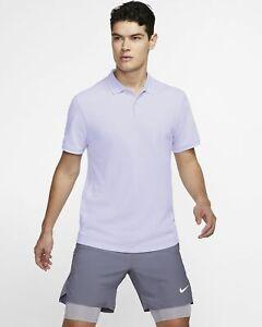 Nike Court Dri - Fit Vorteil Tennis Polo Herren Oxygen Lila Active AJ8110-508
