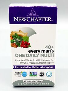 New Chapter Men's Multivitamin, Every Man's One Daily 40+ • 48 ct • Exp: 01/2021