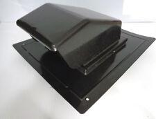 """4"""" BLACK PLASTIC ROOF CAP w/DAMPER & COLLAR, LAMBRO R401B VENT, PRCS4BL, NEW"""