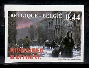 Belgium Sc2048 WWII Battle of the Bulge 60th Anniversary, Urban Warfare, Imperf.