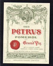 POMEROL 1ER GCC VIEILLE ETIQUETTE CHATEAU PETRUS 1985 75 CL  §26/01/18§