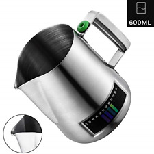 Milk Frothing Pitcher Stainless Steel Creamer Frothing With Integrated Thermo...