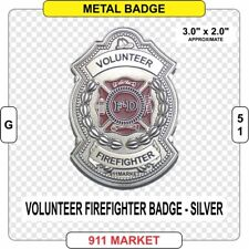 Volunteer Firefighter Badge Silver Color fire fireman VFF Department Patch  G 51