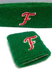 Nos Green Monogram Initial F Sport Headband Sweatband Wristband Set Retro Racing