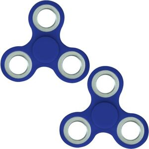 2x Finger Hand Spinner Handspinner Fingerspinner Anti Stress Handkreisel in Blau