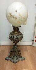 Antique Bradley & Hubbard Sphinx/Mermaid Banquet Lamp