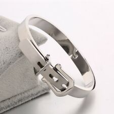Fashion Unique Silver Stainless Steel Open Cuff Bangle Bracelet Gift For Women