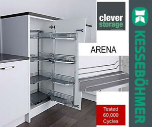 Kessebohmer 600mm Arena Soft close Tandem Pull Out Larder Studio Height