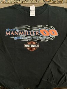 Doug Manmiller Harley Davidson Dirt Modified Racing X-Large Long Sleeve T-shirt