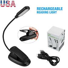 Mini LED Reading Book Light W/Flexible Clip USB Rechargeable Desk Table Lamp US