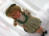 HOW SWEET & SWISS IS THIS BLONDE BLUE EYED 1950-60s  NATIONAL CELLULOID DOLL