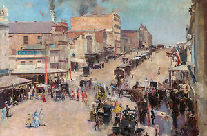 Tom Roberts, London In Australia 1884, Fade Resistant HD Art Print or Canvas