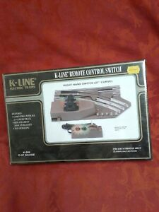 Sealed K-Line K-265 right hand Remote Control Switch Track o-27 wide train gift