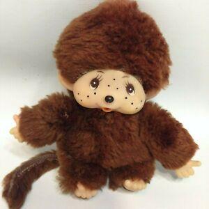 "Herman Pecker Monchhichi Thumb Sucking Sleepy Baby Monkey Boy Brown Plush 4.5"""