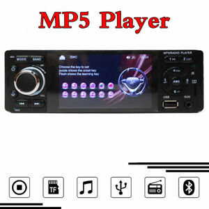 4.1in Capacitive Touch Screen 1DIN Car MP5 Stereo Radio Player Bluetooth AUX-IN