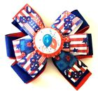 Patriotic 4th of July Independence Day Balloons  Girls Hair Bow Accessory Outfit