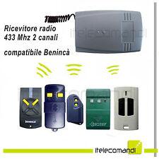 Ricevente ricevitore radio 2 canali 433 Mhz compatibile Benincà