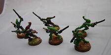Warhammer 40K Eldar Striking Scorpion w/ Exarch army lot  painted table ready