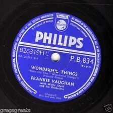 "Raro 1958 Reino Unido #22 Frankie Vaughan 78 ""Judy/cosas maravillosas"" Philips PB834 E -"