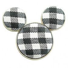 Disney Cloth Black Checkerboard Mickey Mouse Icon Pin