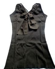 Hope by Kristian Alfonso Spaghetti Strap Shell w-Tie Bow BROWN Medium NWT