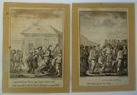 2 KUPFERSTICHE UM 1800 - von JOHAN FREDERIK CLEMENS 1749-1831 - GENRESZENEN -