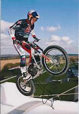 Dougie LAMPKIN Signed 12x8 Photo World Champion Trials Rider AFTAL COA Autograph