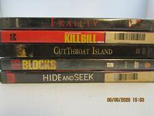 lot of 5 action/adv/sci fi dvd movies-kill bill 1-cutthroat island-16 blocks-