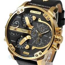 NEW DIESEL DZ7371 Men's Watch Mr. Daddy 2.0 Black Analog Leather DZ7371