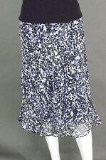 CATO ROYAL BLUE-WHITE & BLACK SKIRT - SIZE S (8)