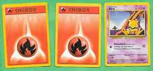 Abra - Base Set Shadowless 43/102 ITALIAN! Plus 2 Energy Cards