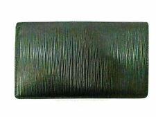 Auth Louis Vuitton Epi Porte Chequier Cartes Credit M63732 Black Leather 82681