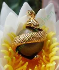 Anhänger Engelsrufer Schlange windet sich um Klangkugel gold bronze Klang Kugel