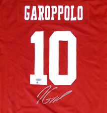 49ERS JIMMY GAROPPOLO AUTOGRAPHED RED NIKE JERSEY XL TRISTAR & BECKETT 133389