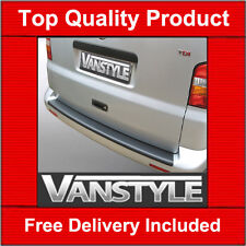 VW T5 TRANSPORTER REAR BUMPER PROTECTOR TOUGH ABS BLACK CARAVELLE STOPS DAMAGE