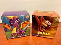 Spyro The Dragon & Crash Bandicoot Micro Blocks Figurines Gamestop Exclusive