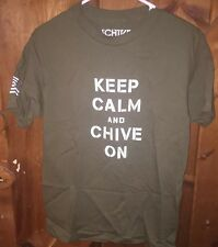 Chive *Authentic* Military Keep Calm & Chive On T-shirt KCCO OD Green Color S