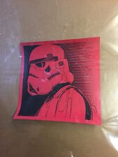 Star Wars StormTrooper size 12x12 Inches Print Signed Disney Mystery Print Rare
