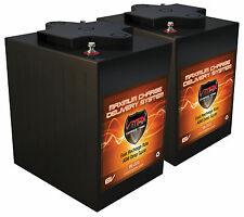 QTY 2 VMAX MB6-225 DEEP CYCLE AGM 6V 225AH EA Battery MAINTENANCE FREE HI PERF.