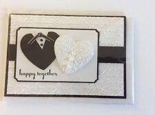 Handmade heart wedding card